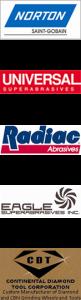 Norton Saint-Gobain, Universal Superabrasives, Radiac Abrasives, Eagle Superabrasives, CDT Continental Diamond Tool Corp.